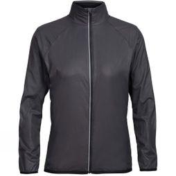 Icebreaker Womens Rush Windbreaker Black/Embossed