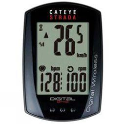 Cateye Strada Digital Wireless Computer With Cadence And Heart Rate Black