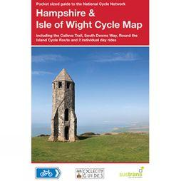 Sustrans Four Point Mapping Hampshire And The Isle Of Wight Cycle Map Updated & revised 2014