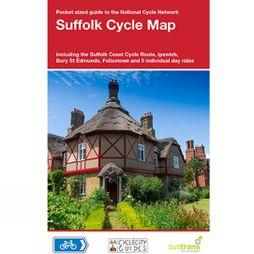 Sustrans Four Point Mapping Suffolk Cycle Map No Colour