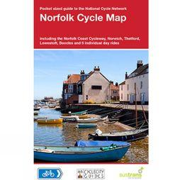 Sustrans Four Point Mapping Norfolk Cycle Map No Colour