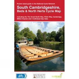 Sustrans Four Point Mapping South Cambridgeshire, Beds & North Herts Cycle Map No Colour