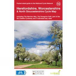 Sustrans Four Point Mapping Herefordshire, Worcestershire & North Gloucestershire Cycle Map 1st Edition