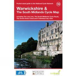 Sustrans Four Point Mapping Warwickshire & The South Midlands Cycle Map 1st Edition