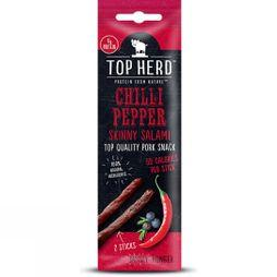 Top Herd Chilli Pepper Skinny Salami 40g .