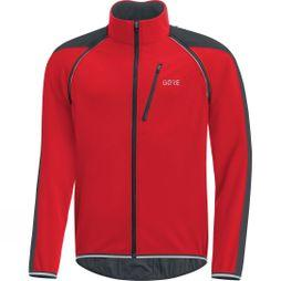 Gore Bikewear Mens C3 Windstopper Phantom Zip Off Jacket Red/Black