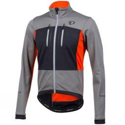 Pearl Izumi Mens Elite Escape Softshell Jacket Smoked Pearl / Orange