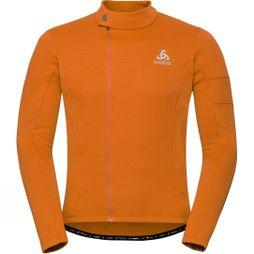 Odlo Mens Lombardia Stand Up Collar Full Zip Top orangeade