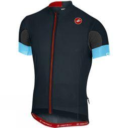Castelli Mens Aero Race 4.1 Solid Jersey Full Zip Dark Infinity Blue