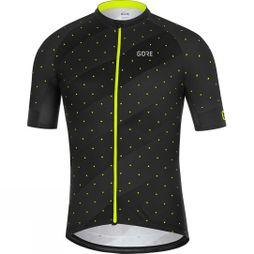 Gore Mens C3 Jersey F Black / Yellow