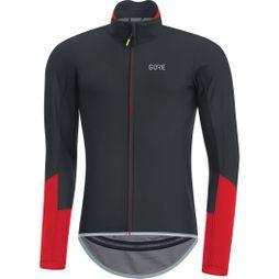 Gore Mens C5 Windstopper Long Sleeve Jersey black/red