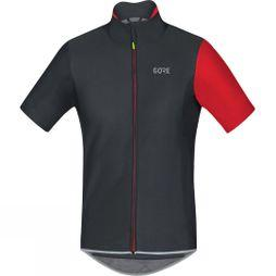 Gore Mens C5 Windstopper Jersey black/red