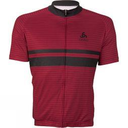 Odlo Mens Active Stripe Print Jersey Red