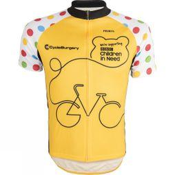 Primal Unisex BBC Children In Need Cycle Jersey Yellow/Black