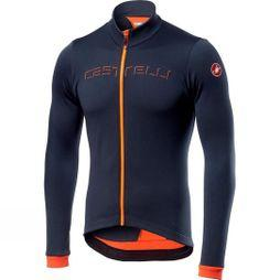 Castelli Mens Fondo Jersey Dark Steel Blue / Orange