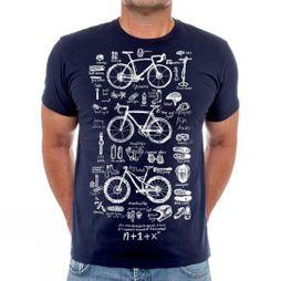 Cycology Bike Maths Mens Tee Navy
