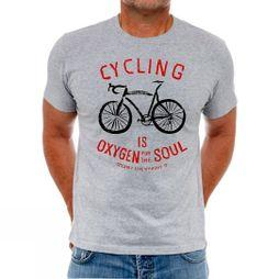 Cycology Oxygen for the Soul Mens Tee Grey Marl