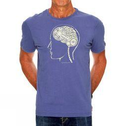Cycology Bike Brain Mens Tee Denim