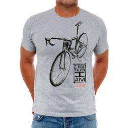 Cycology I Ride Therefore I Am Mens Tee Grey Marl