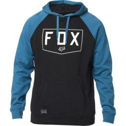 Fox Mens Shield Raglan Pullover Hoodie BLACK/BLUE