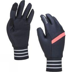 SealSkinz Solo Stretch Reflective Glove Black/Bright Pink