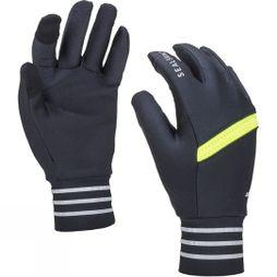 SealSkinz Solo Stretch Reflective Glove Black/bright Yellow