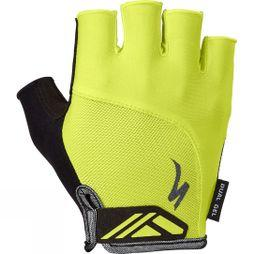 Specialized Body Geometry Dual-Gel Mitt Hi-Viz/ Black