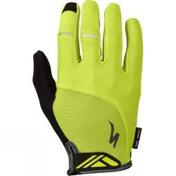 Specialized Body Geometry Dual-Gel Long Finger Gloves Hyper Green