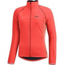 Gore Bikewear Womens C3 Gore Windstopper Phantom Zip-Off Jacket Lumi Orange/Coral Glow