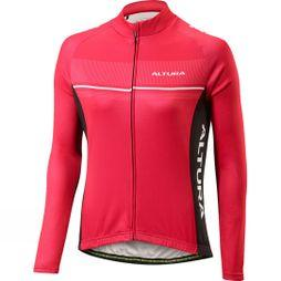 Altura Womens Strada Long Sleeve Jersey Berry Red/ Black