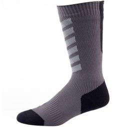 SealSkinz Mens MTB Mid Sock with Hydrostop Anthracite/Mid Grey/Black