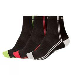 Endura Mens Coolmax Stripe II (3 Pack) Black