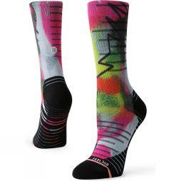 Stance Monitor Crew Socks Bright Pink