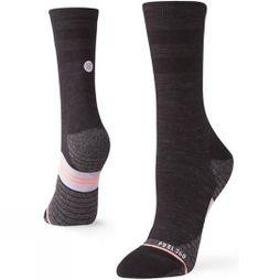 Stance Womens Bike Solid Crew Socks Black