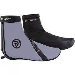 Proviz Reflect360 Waterproof Overshoes Black Silver