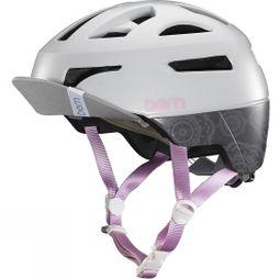 Bern Parker with Flip Visor Light Grey Mandala