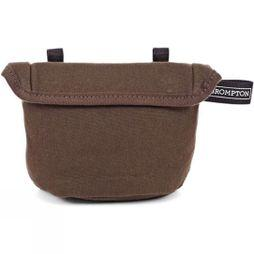 Brompton Waxed Saddle Pouch Bag Khaki waxed canvas