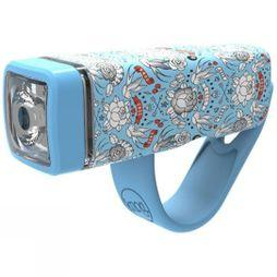 Knog Pop I Kids Front Light Light Blue Pattern