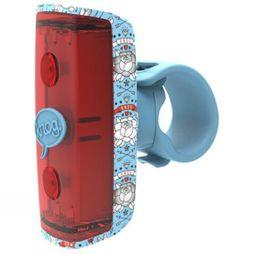 Knog Pop Kids Rear Light Light Blue Pattern