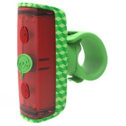 Knog Pop Kids Rear Light Green Pattern