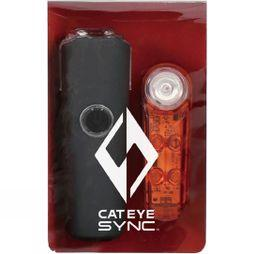 Cateye Cateye Sync Set Core & Kinetic Front & Rear Set Black