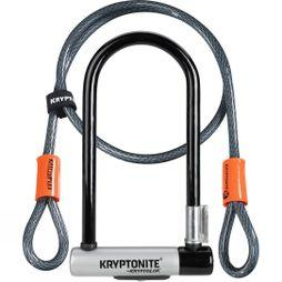 Kryptonite KryptoLok Standard U-Lock with 4 Foot Kryptoflex Cable Black