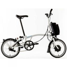 Brompton M6L Electric 2019 with Essential Bag Gloss White