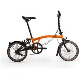 Brompton M6L Black Edition 2019 Gloss Orange/Black Edition