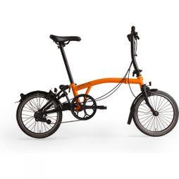 Brompton S2L Black Edition 2019 Gloss Orange/Black Edition