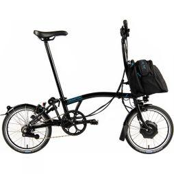 Brompton M6L Electric with City Bag  Gloss Black