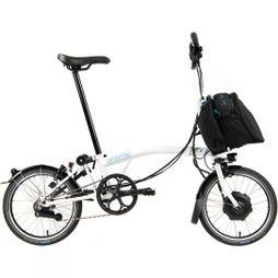 Brompton M6L Electric with City Bag  Gloss White