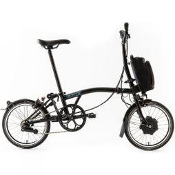 Brompton M6L Electric with Essential Bag Gloss Black