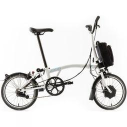 Brompton H6L Electric with Essential Bag Gloss White