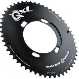 Rotor Q Ring XL 4 Bolt 53 Tooth Aero Chainring Black
